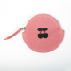 ROUND ECO-LEATHER COIN PURSE, PINK