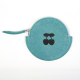ROUND ECO-LEATHER COIN PURSE, TURQUOISE